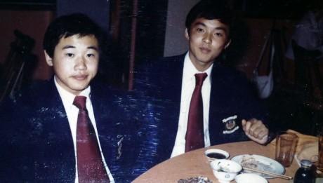 16歳の李国秀。左は松木安太郎氏。