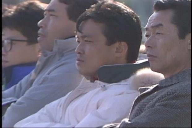 1989年度高校選手権 準々決勝vs.前橋商業戦 ベンチの様子